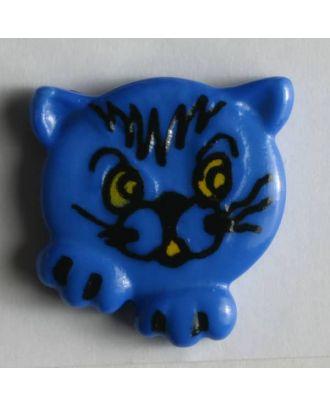 Kinderknopf süßes Kätzchen - Größe: 20mm - Farbe: blau - Art.Nr. 251173