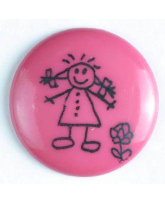 Mädchenknopf - Größe: 15mm - Farbe: pink - Art.Nr. 211424