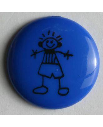 Jungenknopf - Größe: 18mm - Farbe: blau - Art.Nr. 221483