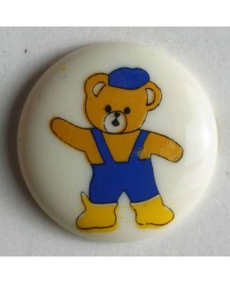 Kinderknopf Teddybär - Größe: 15mm - Farbe: beige - Art.Nr. 211514