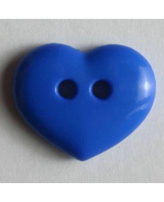 glänzender Herzknopf - Größe: 15mm - Farbe: blau - Art.Nr. 211453