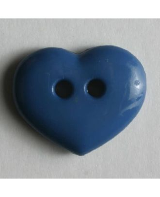 glänzender Herzknopf - Größe: 15mm - Farbe: blau - Art.Nr. 211481