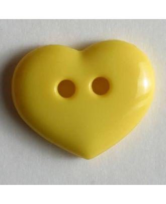 glänzender Herzknopf -Größe: 15mm - Farbe: gelb - Art.Nr. 211456