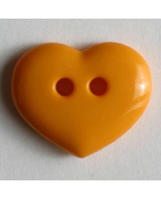 glänzender Herzknopf - Größe: 15mm - Farbe: orange - Art.Nr. 211457