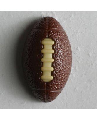 Kinderknopf in Form eines Footballs -  Größe: 20mm - Farbe: braun - Art.Nr. 251253