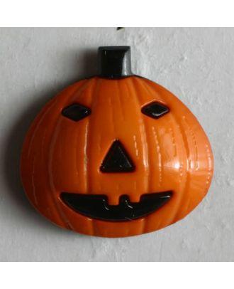 Kinderknopf Kürbis Halloween - Größe: 18mm - Farbe: orange - Art.Nr. 251271