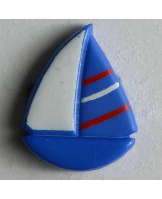 Kinderknopf hübsches Segelboot - Größe: 18mm - Farbe: blau - Art.Nr. 251320