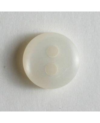 schlichter Puppenknopf - Größe: 8mm - Farbe: weiß - Art.Nr. 181086