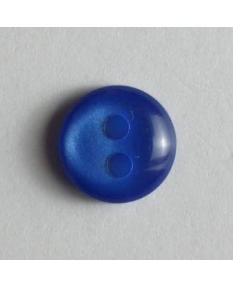 schlichter Puppenknopf - Größe: 8mm - Farbe: blau - Art.Nr. 181092