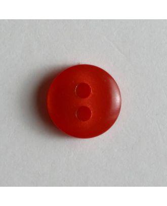 schlichter Puppenknopf - Größe: 8mm - Farbe: rot - Art.Nr. 181100