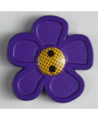 wunderschöner Blumenknopf -  Größe: 20mm - Farbe: lila - Art.Nr. 280862