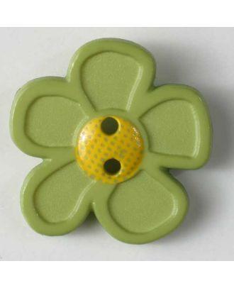 wunderschöner Blumenknopf - Größe: 20mm - Farbe: grün - Art.Nr. 280864