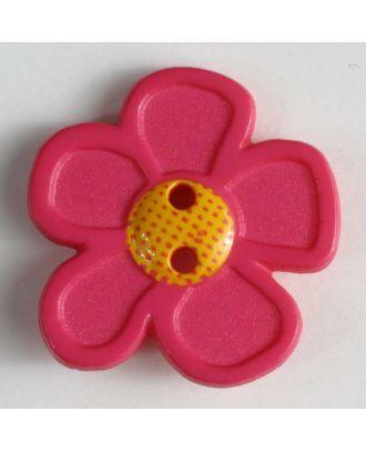 wunderschöner Blumenknopf - Größe: 20mm - Farbe: pink - Art.Nr. 280865