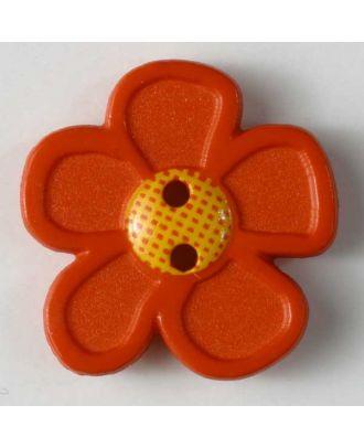 wunderschöner Blumenknopf - Größe: 28mm - Farbe: rot - Art.Nr. 340556