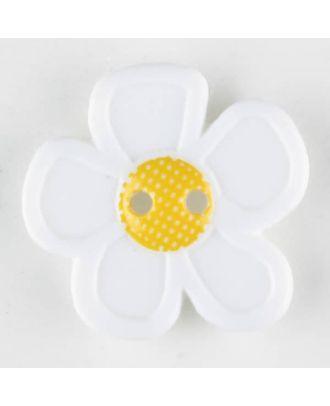 wunderschöner Blumenknopf - Größe: 28mm - Farbe: weiß - Art.Nr. 340552