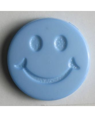 süßer Smilyknopf - Größe: 19mm - Farbe: blau - Art.Nr. 211560