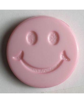 süßer Smilyknopf -  Größe: 19mm - Farbe: pink - Art.Nr. 211561