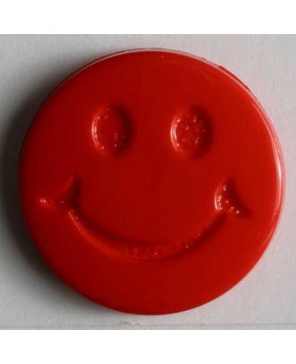 süßer Smilyknopf - Größe: 19mm - Farbe: rot - Art.Nr. 211562