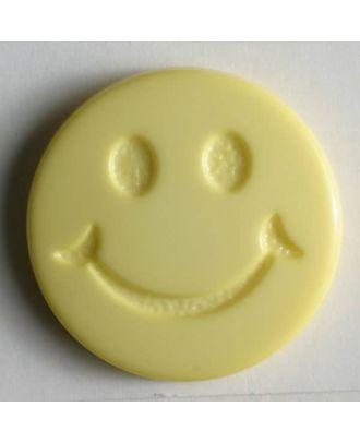 süßer Smilyknopf - Größe: 19mm - Farbe: gelb - Art.Nr. 211563