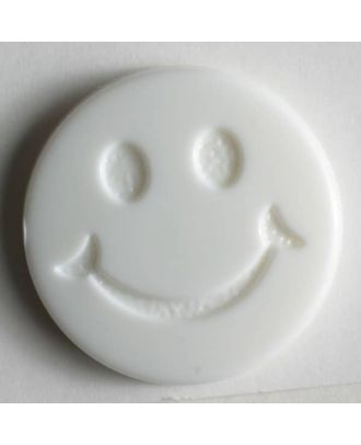 süßer Smilyknopf -  Größe: 19mm - Farbe: weiß - Art.Nr. 211559