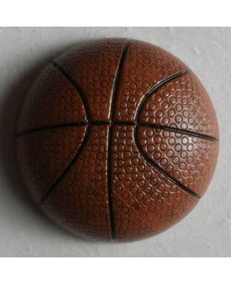 Kinderknopf Basketball - Größe: 20mm - Farbe: braun - Art.Nr. 251502
