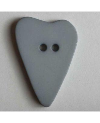 Herzknopf, asymmetrische Form, 2-Loch - Größe: 15mm - Farbe: grau - Art.Nr. 219052