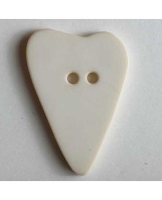 Herzknopf, asymmetrische Form, 2-Loch - Größe: 28mm - Farbe: beige - Art.Nr. 289111