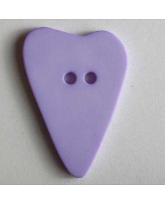 Herzknopf, asymmetrische Form, 2-Loch - Größe: 28mm - Farbe: lila - Art.Nr. 289062