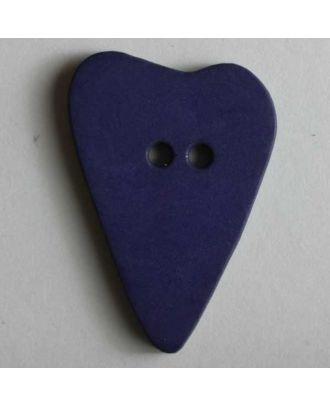 Herzknopf, asymmetrische Form, 2-Loch - Größe: 28mm - Farbe: lila - Art.Nr. 289063