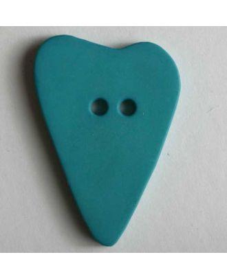 Herzknopf, asymmetrische Form, 2-Loch - Größe: 28mm - Farbe: grün - Art.Nr. 289066