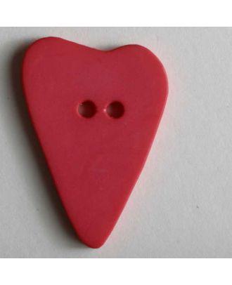 Herzknopf, asymmetrische Form, 2-Loch - Größe: 28mm - Farbe: pink - Art.Nr. 289069
