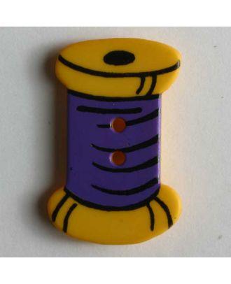 Kinderknopf in Form einer Zwirnspule - Größe: 25mm - Farbe: gelb - Art.Nr. 280792