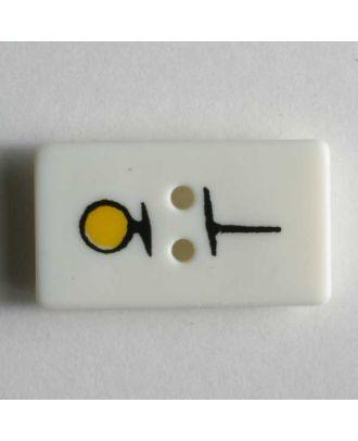 Nähzubehörknopf - Größe: 20mm - Farbe: weiß - Art.Nr. 251545