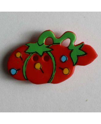 Kinderknopf in Form eines Nadelkissens - Größe: 25mm - Farbe: rot - Art.Nr. 280793