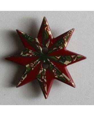 Weihnachtsknopf  Weihnachtsstern -  Größe: 20mm - Farbe: rot - Art.Nr. 280811