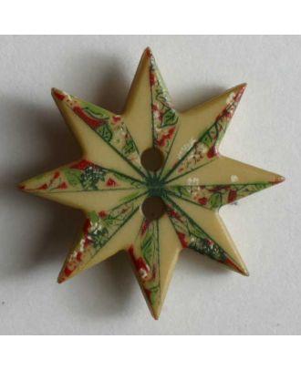 Weihnachtsknopf  Weihnachtsstern -  Größe: 20mm - Farbe: beige - Art.Nr. 280812