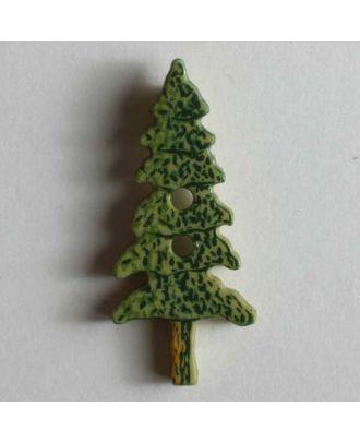 Christmas button Tannenbaum - Größe: 25mm - Farbe: grün - Art.Nr. 330543