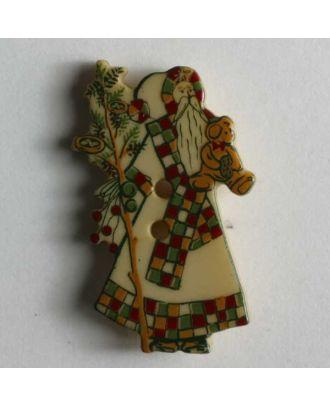 Weihnachtsknopf  Nikolaus - Größe: 25mm - Farbe: beige - Art.Nr. 330544
