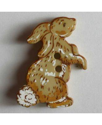 Kinderknopf Häschen mit Stummelschwanz  - Größe: 25mm - Farbe: beige - Art.Nr. 330546
