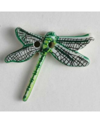 Libellenknopf - Größe: 25mm - Farbe: grün - Art.Nr. 330616