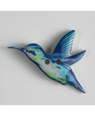 Vogelknopf - Größe: 28mm - Farbe: blau - Art.Nr. 360417