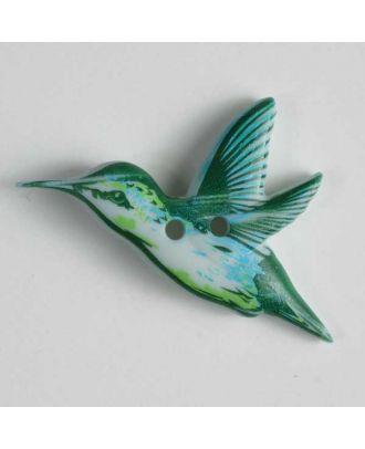 Vogelknopf - Größe: 28mm - Farbe: grün - Art.Nr. 360418