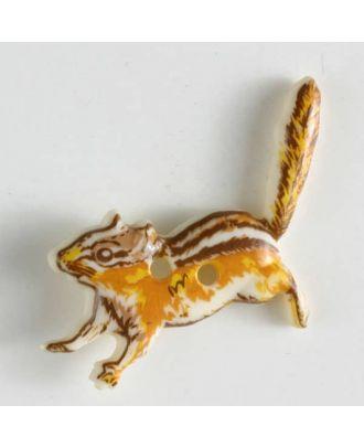 Kinderknopf in Form eines Eichhörnchens - Größe: 28mm - Farbe: beige - Art.Nr. 360420