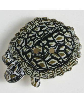 Kinderknopf in Form einer Schildkröte - Größe: 28mm - Farbe: beige - Art.Nr. 360421