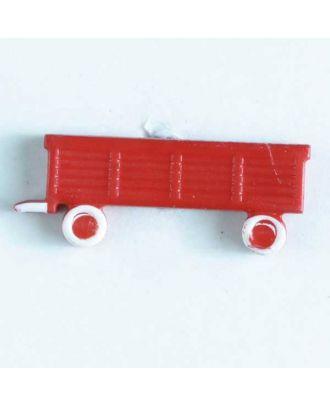 Kinderknopf Anhänger - Größe: 29mm - Farbe: rot - Art.Nr. 340786