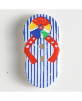 Kinderknopf schöne Flip-Flops - Größe: 25mm - Farbe: weiß - Art.Nr. 330624