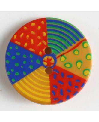 Kinderknopf bunter Strandball - Größe: 22mm - Farbe: orange - Art.Nr. 320614