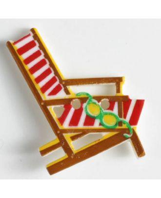 Kinderknopf bequemer Sonnenstuhl - Größe: 28mm - Farbe: braun - Art.Nr. 360432