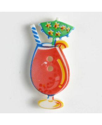 KInderknopf leckerer Cocktail - Größe: 30mm - Farbe: rot - Art.Nr. 370310