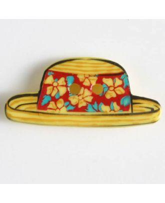 Kinderknopf in Form eines Sonnenhuts - Größe: 25mm - Farbe: gelb - Art.Nr. 330625